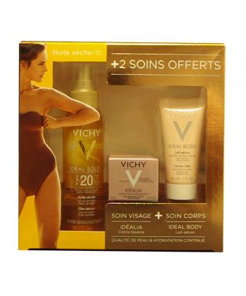 Vichy Ideal Soleil Coffret Huile sèche SPF 20