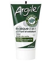 Juvaflorine Masque 2 en 1 à l'Argile Verte