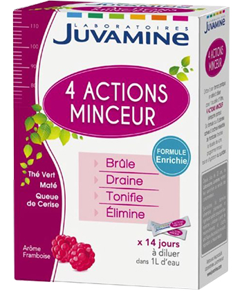 Juvamine Cocktail minceur 4 actions - 14 sticks