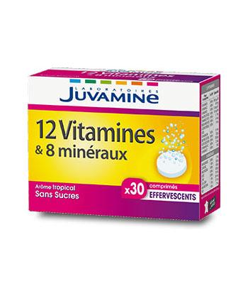 Juvamine 12 vitamines & 8 minéraux
