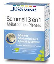 Juvamine Sommeil 3 en 1 Mélatonine et Plantes