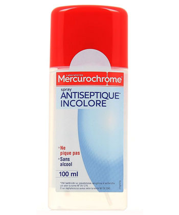 Mercurochrome Spray Antiseptique Incolore