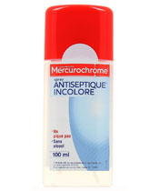 Mercurochrome Spray Antiseptique Incolore
