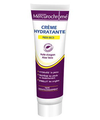Mercurochrome Crème Hydratante Pieds Secs