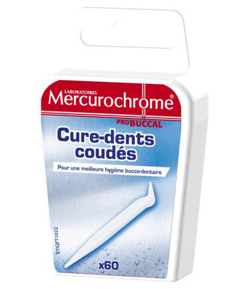 Mercurochrome Cure-Dents Coudés
