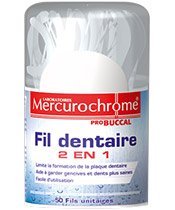 Mercurochrome Fil dentaire 2 en 1