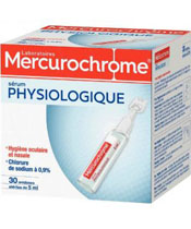 Mercurochrome Sérum Physiologique