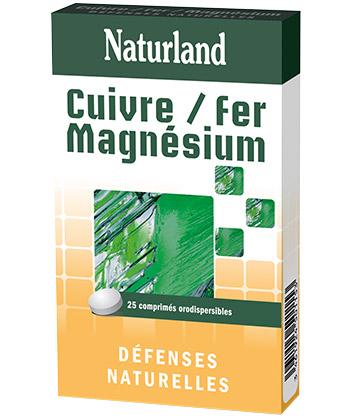 Naturland Cuivre Fer Magnésium