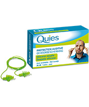 Quies Protections Auditives Silicone avec Cordelette