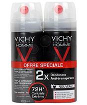Vichy Homme Lot 2x Déodorant Vaporisateur