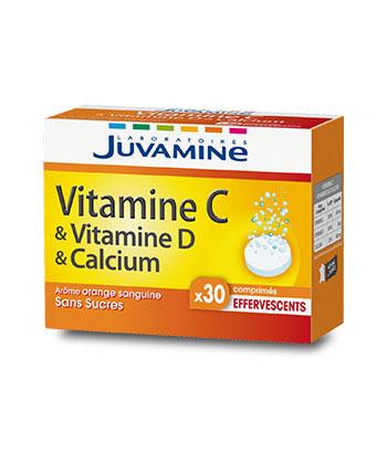 Juvamine Vitamines C, D et Calcium