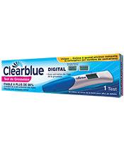 Clearblue Test de Grossesse avec Estimation de l'Âge de la Grossesse