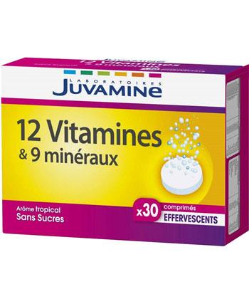 Juvamine 12 vitamines & 9 minéraux