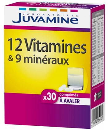 Juvamine 12 vitamines et 9 minéraux
