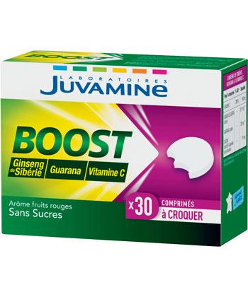 Juvamine Boost Ginseng de sibérie, Guarana, Vitamine C