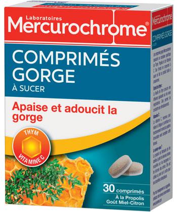 Mercurochrome Comprimés Gorge