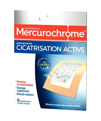 Mercurochrome Pansements Cicatrisation Active