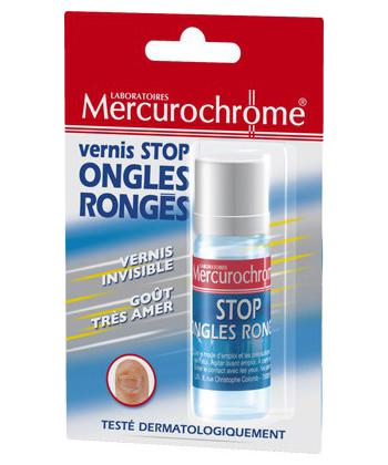 Mercurochrome Vernis Stop Ongles Rongés