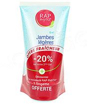 RAP Phyto Gel Jambes Légères Lot de 2 + lingette offerte